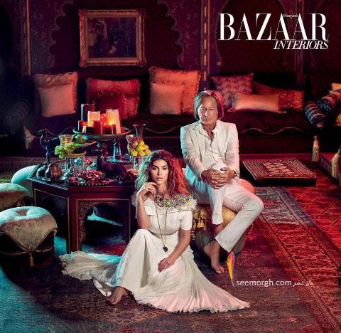 ازدواج مانکن ایرانی با مرد ثروتمند عرب! + عکس های قصری که در آن زندگی می کنند