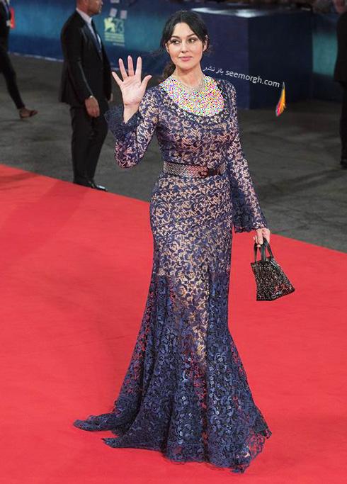 مدل لباس مونیکا بلوچی Monica Belochi در جشنواره فیلم ونیز 2016