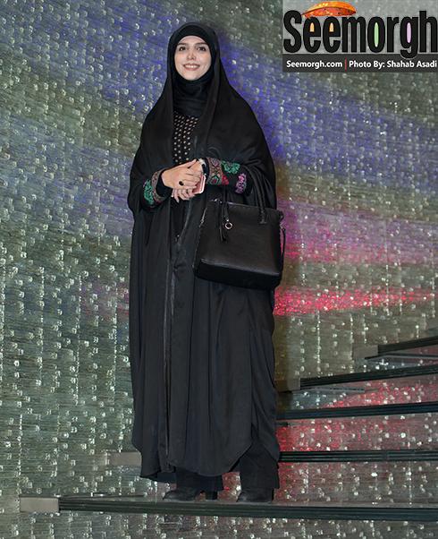 مژده لواسانی در اکران فیلم سیانور در تالار ایوان شمس