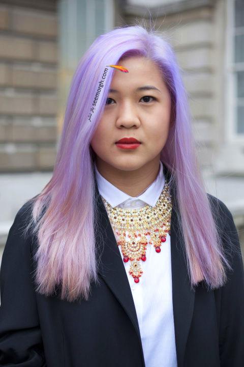 رنگ موی فانتزی برای تابستان 2016 - رنگ مو شماره 8