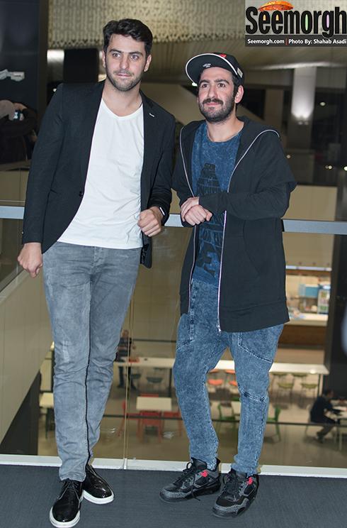 علی ضیا و نیما شعبان نژاد در اکران فیلم متولد 65