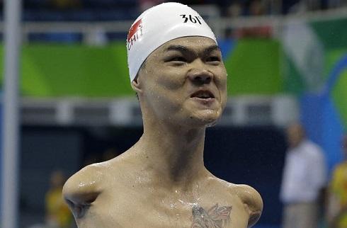 عکس قهرمان چینی در پارالمپیک 2016