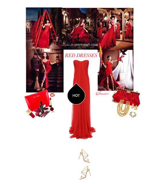 ست کردن لباس شب به رنگ قرمز به سبک پنه لوپه کروز Penelope Cruz - ست شماره 6