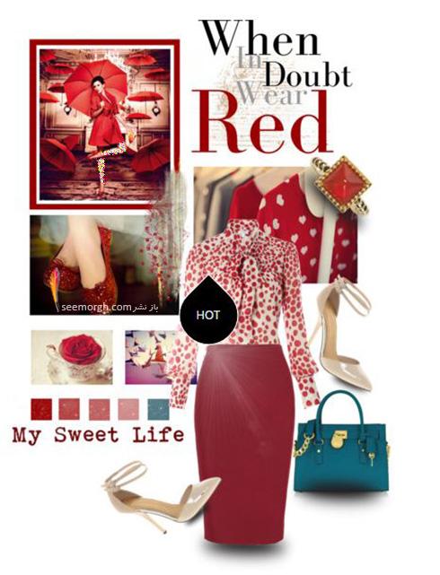 ست کردن لباس شب به رنگ قرمز به سبک پنه لوپه کروز Penelope Cruz - ست شماره 7