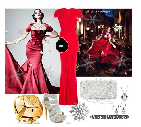 ست کردن لباس شب به رنگ قرمز به سبک پنه لوپه کروز Penelope Cruz - ست شماره 8