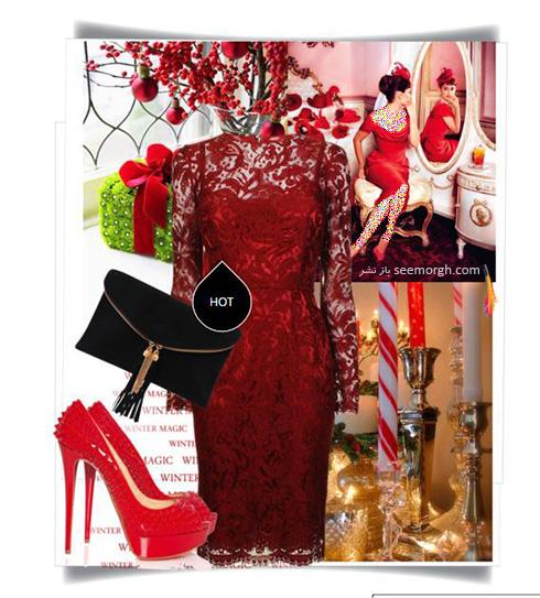 ست کردن لباس شب به رنگ قرمز به سبک پنه لوپه کروز Penelope Cruz - ست شماره 1