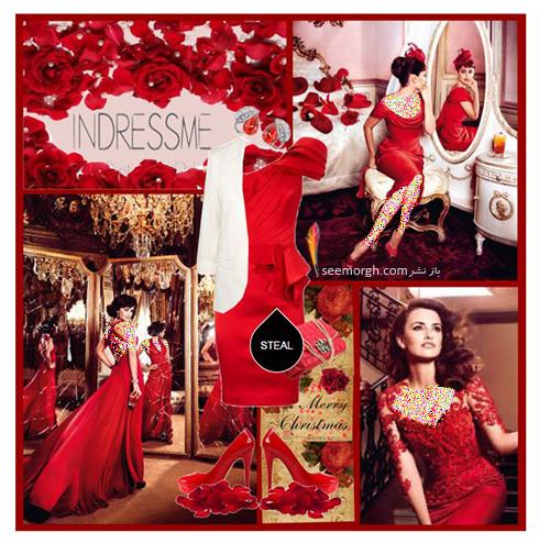 ست کردن لباس شب به رنگ قرمز به سبک پنه لوپه کروز Penelope Cruz - ست شماره 2