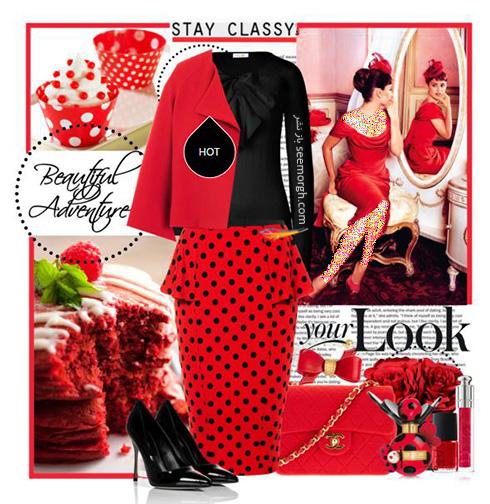 ست کردن لباس شب به رنگ قرمز به سبک پنه لوپه کروز Penelope Cruz - ست شماره 3