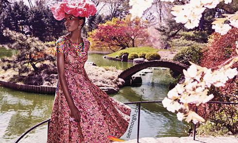 پیراهن زنانه طراحی شده با الهام از طبیعت از برند پرادا Prada
