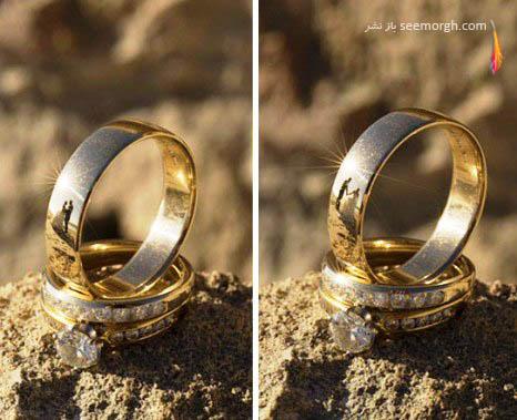 دیده شدن عروس و داماد در حلقه ازدواج شان