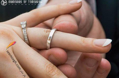 چهره عروس در حلقه ازدواج