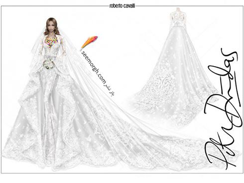 طرح لباس عروس سیارا Ciara از برند روبرتو کاوالی Roberto Cavalli - عکس شماره 2