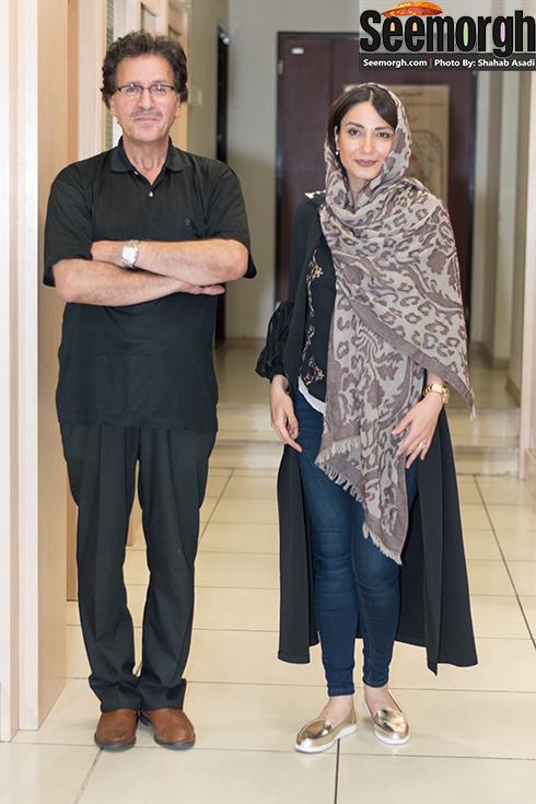 سمیرا حسن پور در کنار ابوالفضل پورعرب در پردیس کوروش