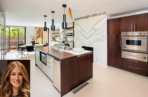 دکوراسیون آشپزخانه سارا جسیکا پارکر Sarah Jessica Parker