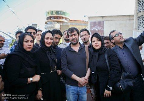 شهاب حسینی در کنار همسرش و الهام حمیدی و ستاره اسکندری