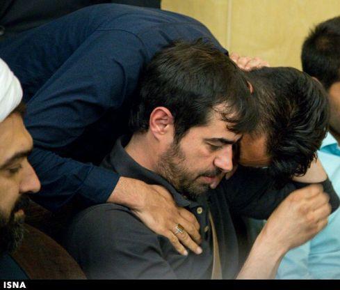 شهاب حسینی در مراسم ختم صدیقه حکمت