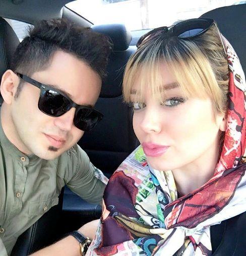 شهنام شهابی در کنار همسرش