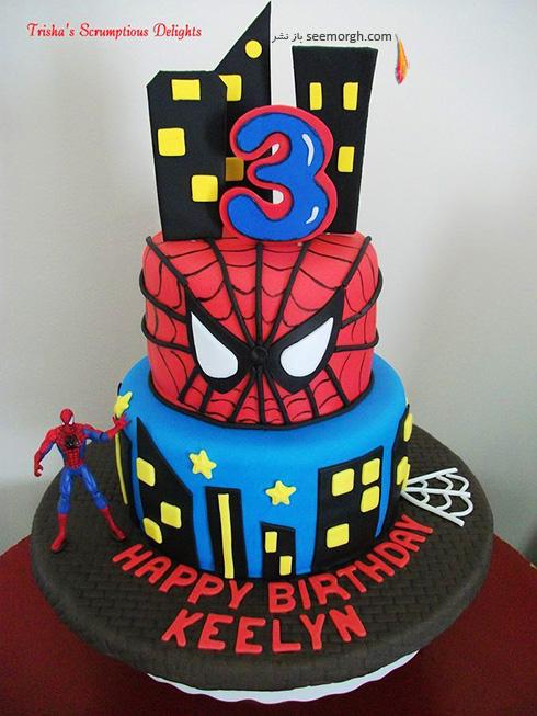 کیک تولد به شکل اسپایدرمن - مدل شماره 1