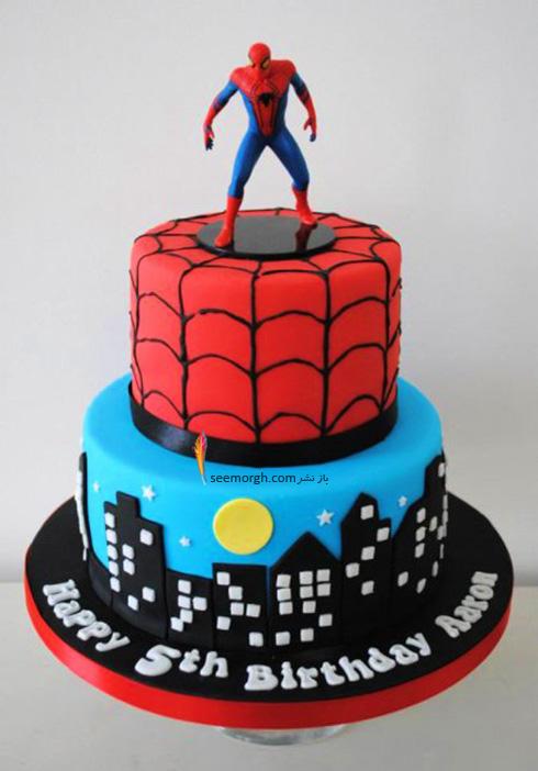 کیک تولد به شکل اسپایدرمن - مدل شماره 2