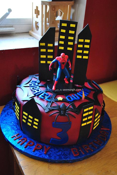 کیک تولد به شکل اسپایدرمن - مدل شماره 3