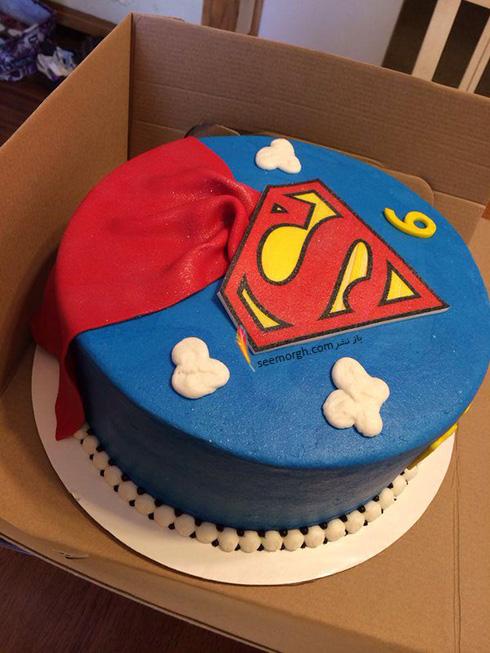 کیک تولد به شکل اسپایدرمن - مدل شماره 4