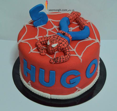 کیک تولد به شکل اسپایدرمن - مدل شماره 5