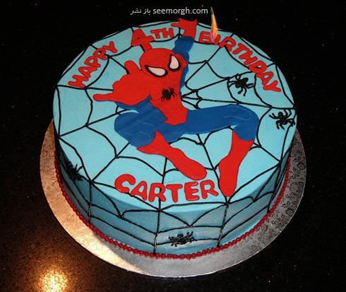 کیک تولد به شکل اسپایدرمن - مدل شماره 6