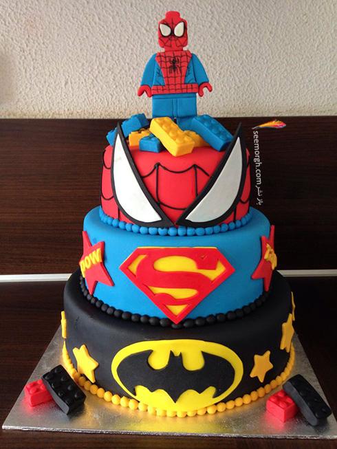 کیک تولد به شکل اسپایدرمن - مدل شماره 7