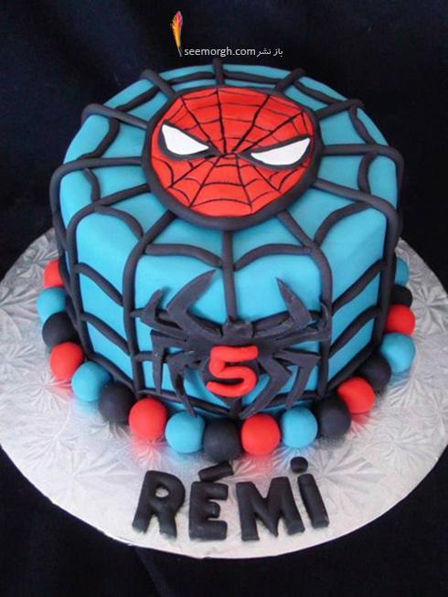 کیک تولد به شکل اسپایدرمن - مدل شماره 8