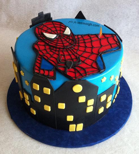 کیک تولد به شکل اسپایدرمن - مدل شماره 9