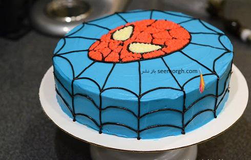 کیک تولد به شکل اسپایدرمن - مدل شماره 10