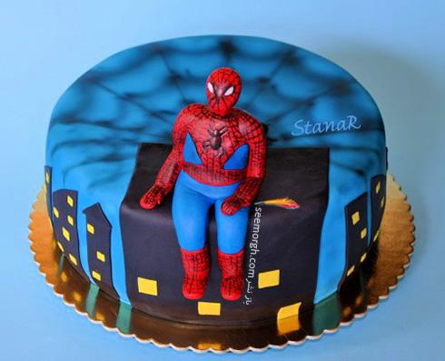 کیک تولد به شکل اسپایدرمن - مدل شماره 11