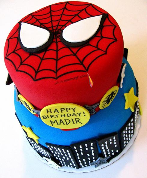کیک تولد به شکل اسپایدرمن - مدل شماره 12