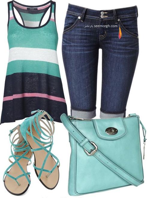 ست کردن لباس برای تابستان - ست لباس شماره 6
