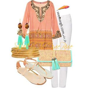 ست کردن لباس تابستانی با شلوار جین سفید - ست شماره 7