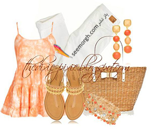 ست کردن لباس تابستانی با شلوار جین سفید - ست شماره 8