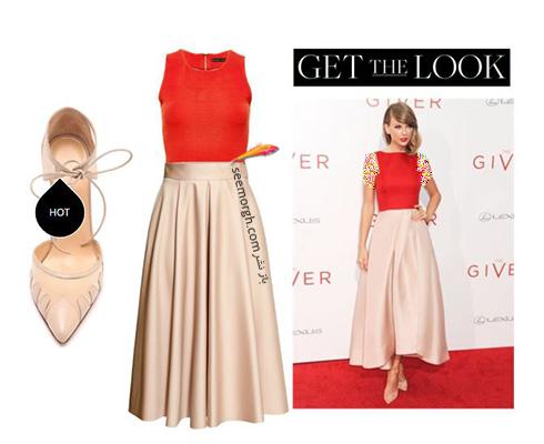 ست کردن لباس شب به سبک تیلور سویفت Taylor Swift - ست شماره 1
