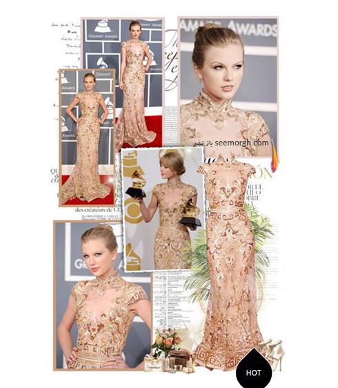 ست کردن لباس شب به سبک تیلور سویفت Taylor Swift - ست شماره 2