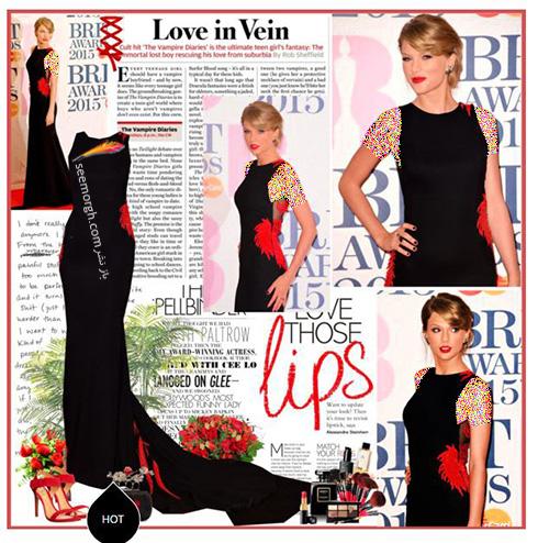 ست کردن لباس شب به سبک تیلور سویفت Taylor Swift - ست شماره 4