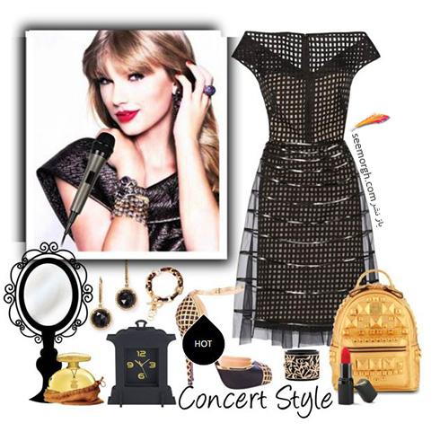 ست کردن لباس شب به سبک تیلور سویفت Taylor Swift - ست شماره 8