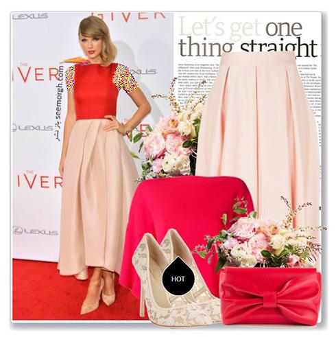 ست کردن لباس شب به سبک تیلور سویفت Taylor Swift - ست شماره 9