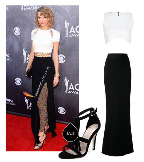 ست کردن لباس شب به سبک تیلور سویفت Taylor Swift - ست شماره 10
