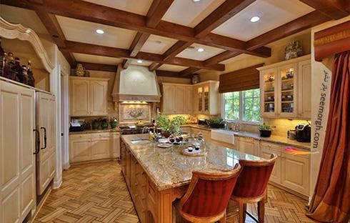 دکوراسیون آشپزخانه ویلای تونی براکستون Toni Braxton