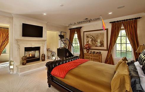 دکوراسیون اتاق خواب ویلای تونی براکستون Toni Braxton