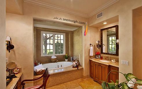 دکوراسیون حمام ویلای تونی براکستون Toni Braxton