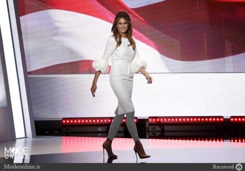 مدل لباس و تیپ ملانیا ترامپ ، همسر دونالد ترامپ +عکس