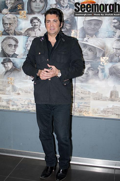 حسام نواب صفوی در اکران فیلم چهارشنبه