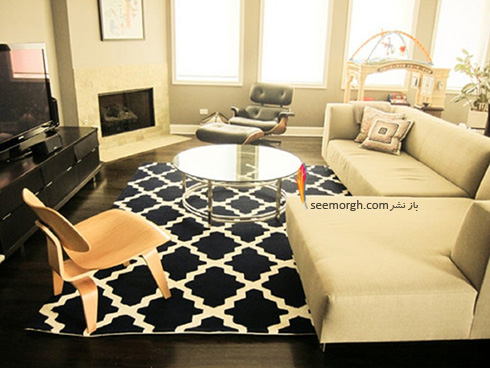 مبلمان مناسب با فرش زمینه مشکی - عکس شماره 4