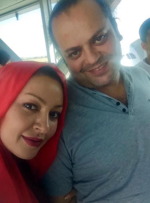 زیبا بروفه در کنار همسرش پیام صابری