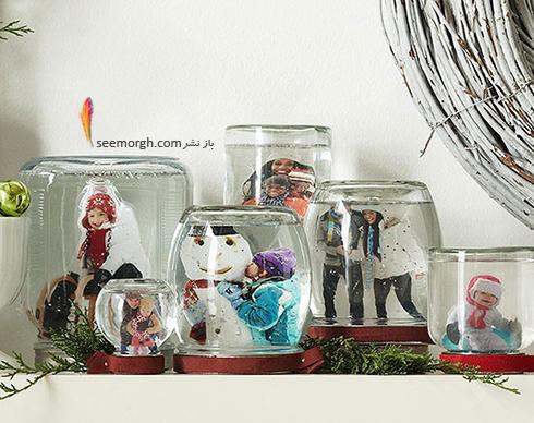 از شیشه های مختلف به عنوان یک قاب عکس یادگاری استفاده کنید